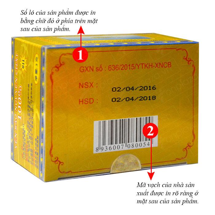 Tổ yến trắng tinh chế 3g (H011) Khánh Hòa Y016 3