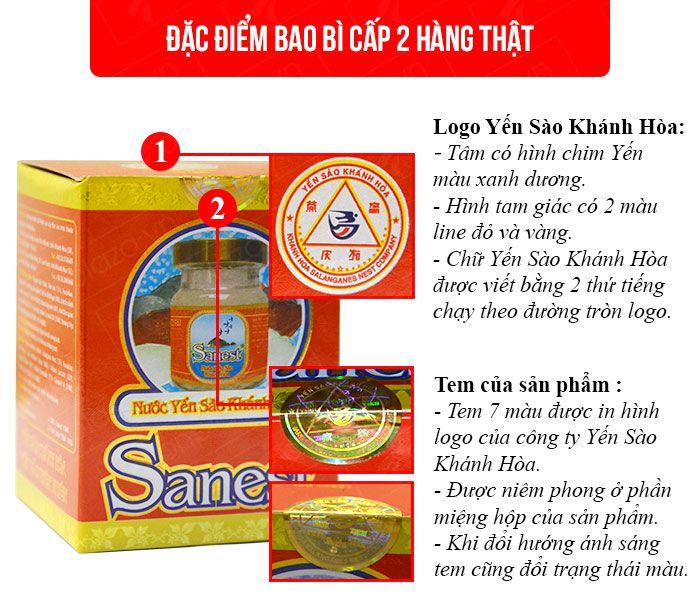 Nước yến sào sanest Khánh Hòa có đường loại 1 lọ