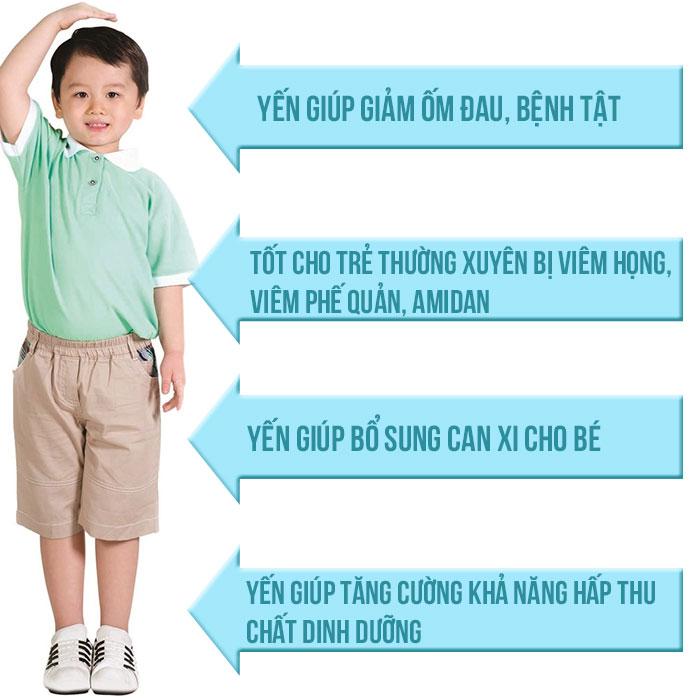 Tác dụng của yến sào với trẻ em