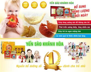 Yến sào khánh hòa bổ sung hàm lượng dinh dinh dưỡng cho trẻ