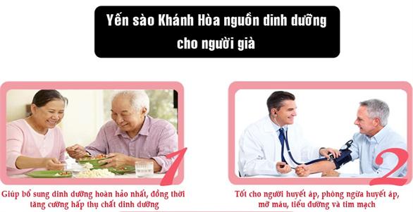 Tác dụng của Yến Sào Khánh Hòa rất tốt cho người gia