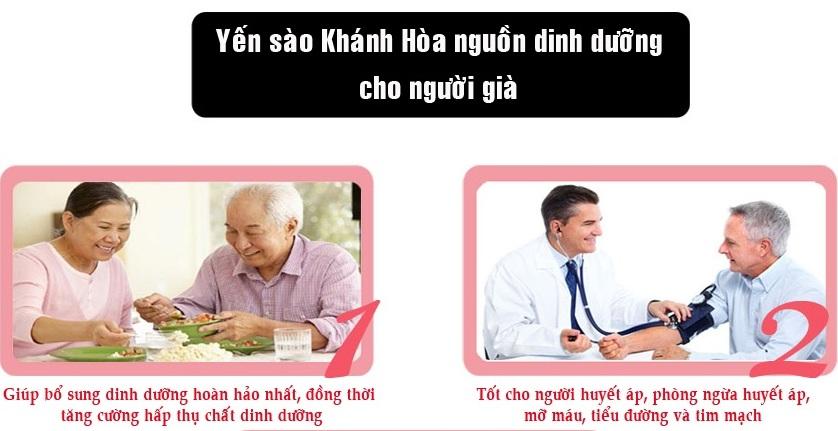 Tăng cường sức khỏe người già nhờ yến sào khánh hòa.