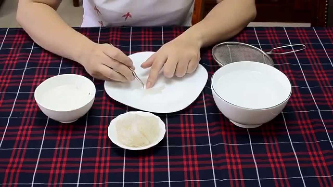 Phương pháp làm sạch tổ yến sào thô nhanh chóng và đảm bảo