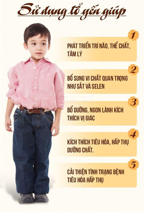 Tác dụng của tổ yến với trẻ biếng ăn
