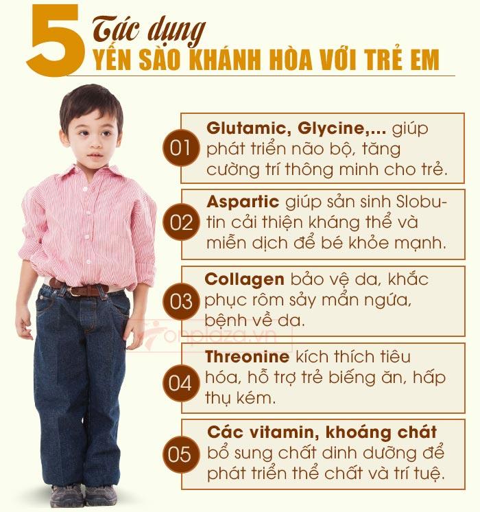 Tác dụng của yến sào đối với trẻ em