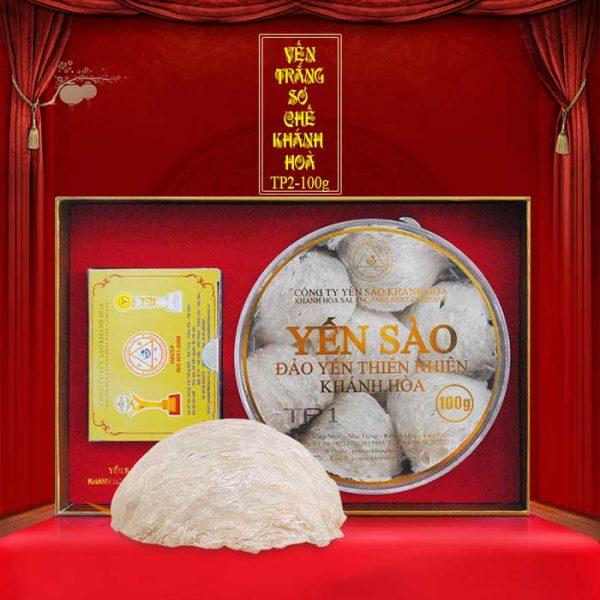 Tổ yến trắng sơ chế Khánh Hòa hộp 100g (TP2) Y002