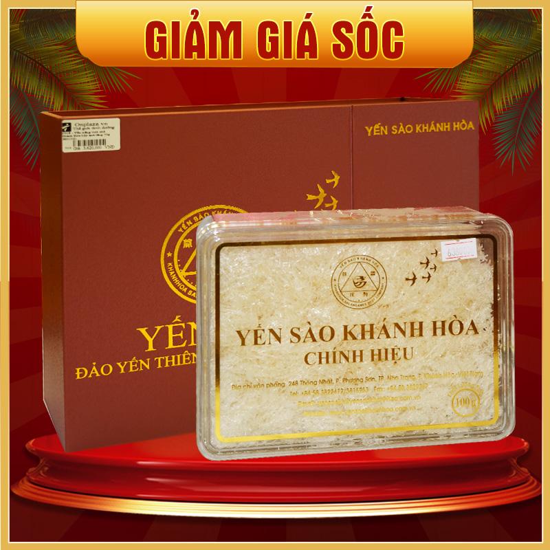 Hộp quà biếu Yến sào tinh chế Khánh Hòa hộp quà tặng 100g (H014G) Y017
