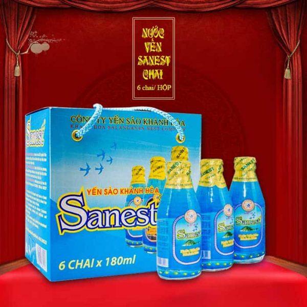 Nước yến Sanest chai 180ml hộp 6 chai