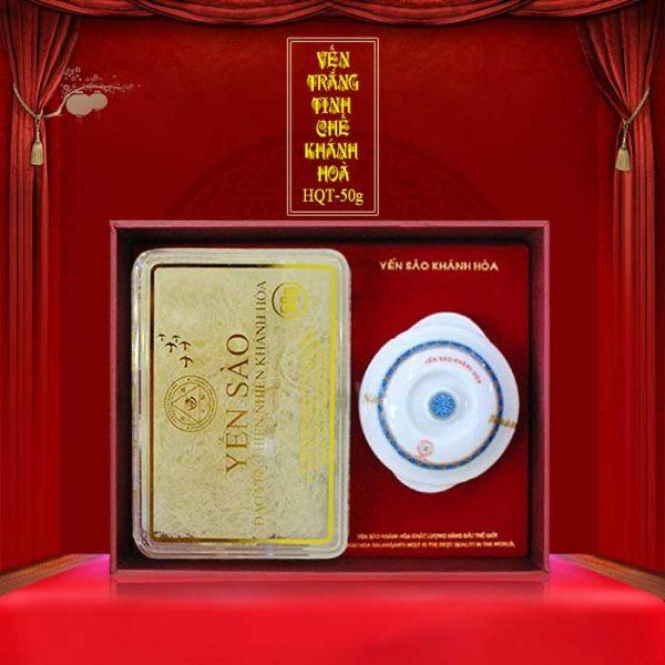 Hộp quà biếu Yến sào tinh chế hộp quà tặng 50g (H015G) Y018