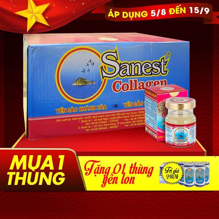 Thùng nước yến sanest collagen Khánh Hòa