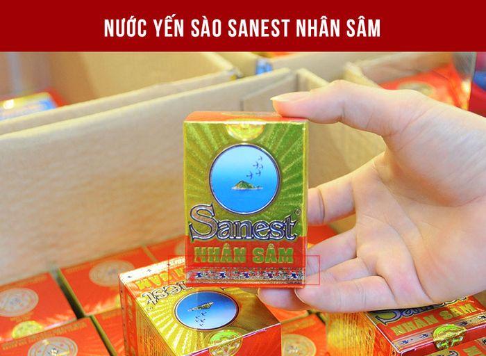 Nước yến sào nhân sâm Khánh Hòa với tem chống hàng giả