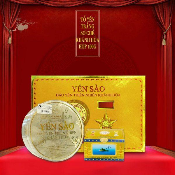 Tổ yến trắng sơ chế Khánh Hòa hộp 100g (TP3) Y003