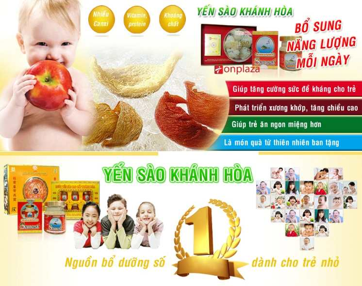 Yến sào Khánh Hòa bổ sung hàm lượng dinh dưỡng cho trẻ