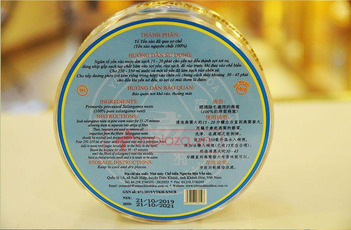 Tổ yến trắng sơ chế Khánh Hòa 100g (TP1) Y001 10