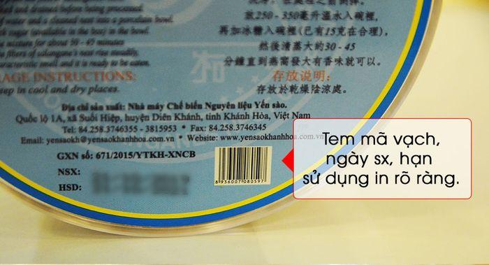 Tổ yến trắng sơ chế Khánh Hòa 100g (TP1) Y001 11