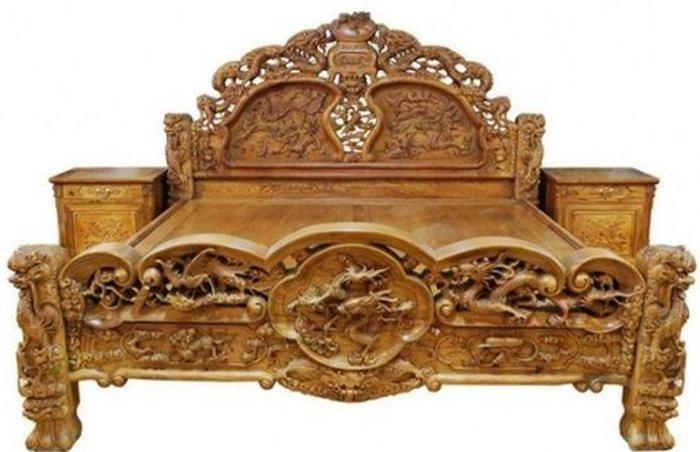 Giường ngủ gỗ hương Bắc Ninh được nhiều người ưa chuộng
