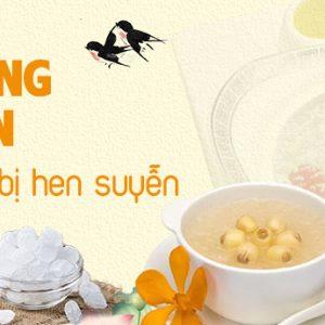 Tổ yến chưng đường phèn - Món ăn cho trẻ bị hen suyễn