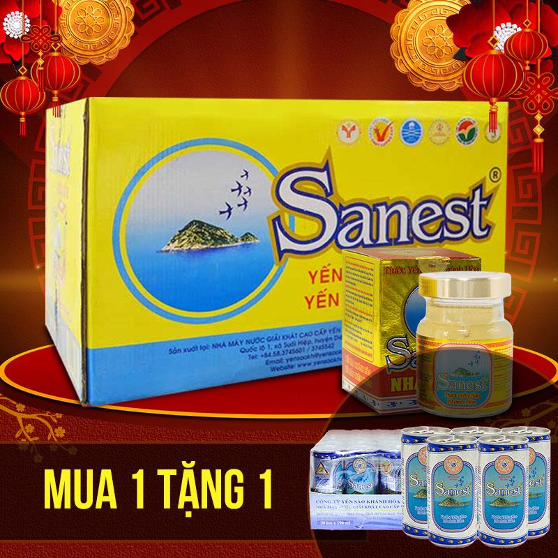 Thùng nước yến sào sanest nhân sâm Khánh Hòa