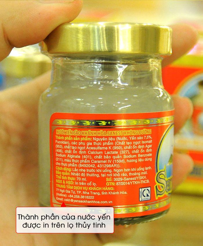Thùng nước yến Sanest Khánh Hòa không đường 14